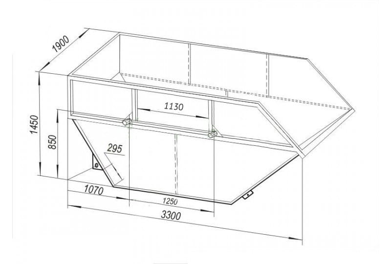чертеж бункера для мусора 8 м3