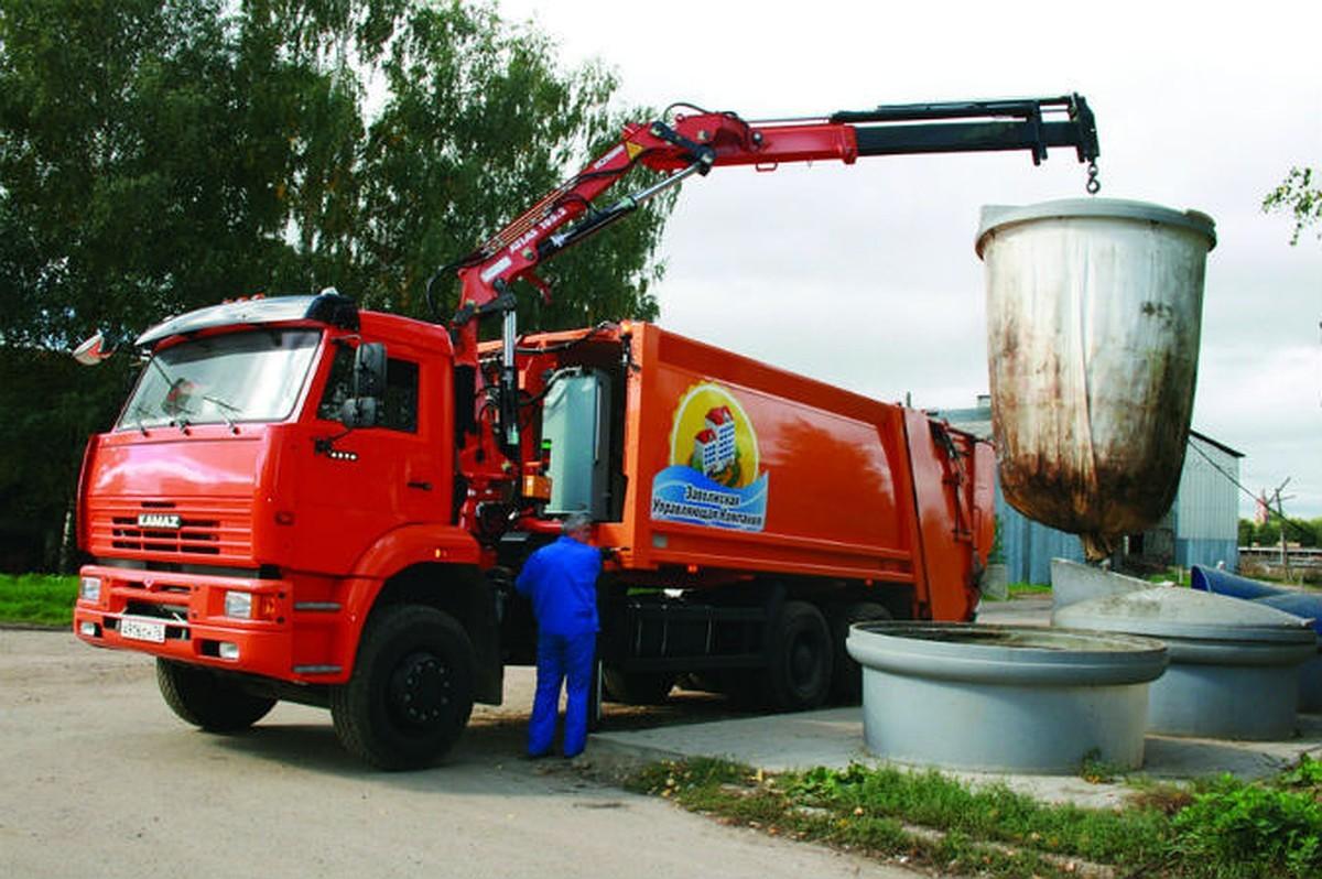 Вывоз мусора из заглубленного контейнера