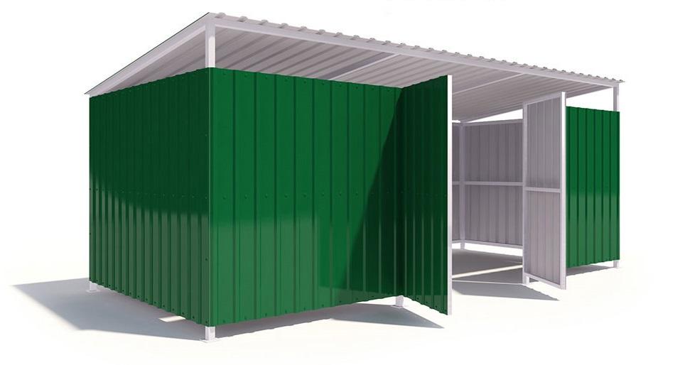 контейнерная площадка для мусора модель